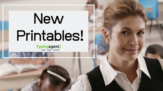 New Printable Typing Lessons from Typing Agent